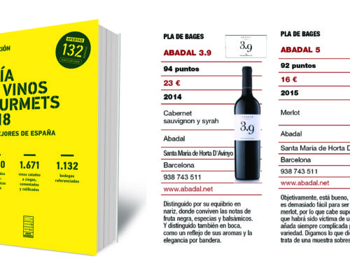 Magnificas puntuaciones para los vinos Abadal