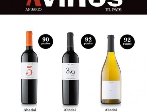 Fantásticas puntuaciones para Abadal en el Anuario de Vinos El País 2018