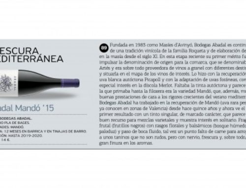 "Planeta Vino describes Abadal Mandó as ""Mediterranean Freshness"""