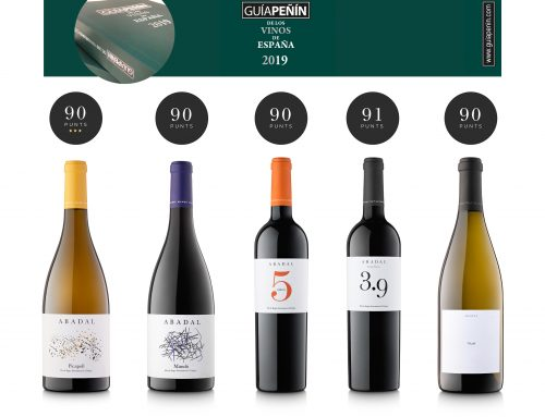 "Five Abadal wines receive 90 points and over in the wine guide Guía Peñín 2019 and these wines are presented at one of Spain's most prestigious wine shows- ""XIX Salón de los Mejores Vinos"""