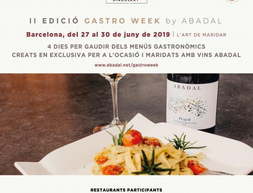 Gastro Week by Abadal a Barcelona, el pla perfecte pels amants del vi i la bona gastronomia